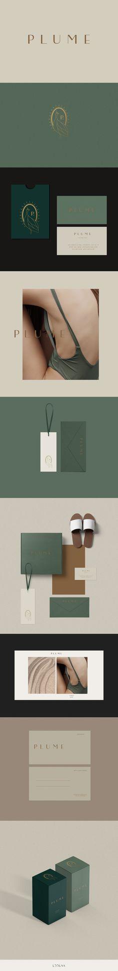 Plume- branding package- available | Loolaa Designs