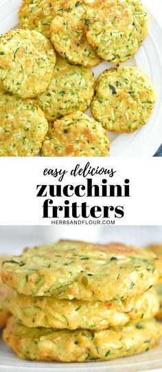 This easy to make Zucchini Fritters recipe is simple but flavorful and a fantastic way to use up all those garden zucchinis! They're the perfect summer appetizer or side dish and packed with fresh zucchini and herbs!  #zucchinifritters #summerrecipe #easyrecipe #healthy Easy Zucchini Recipes, Vegetable Recipes, Healthy Zucchini, Healthy Recipes, Savoury Recipes, Rice Recipes, Healthy Eats, Keto Recipes, Best Appetizer Recipes