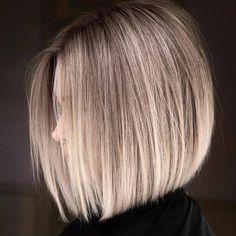 Easy Short Haircuts, Short Haircut Styles, Short Hair Cuts, Short Hairstyles, Modern Bob Hairstyles, Bob Hair Cuts, Short Blonde Haircuts, Modern Bob Haircut, Chic Haircut