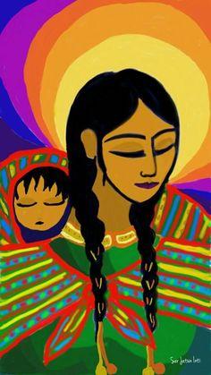 Native American Paintings, Native American Indians, Peruvian Art, Bright Art, Mexican Folk Art, Teaching Art, Paint Designs, Face Art, Art For Kids