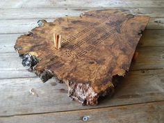oak burl cribbage board, for when we cut down our oak with so many wounds.