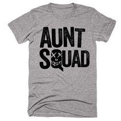Aunt Squad Suicide Squad Themed T-Shirt