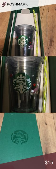 ☕️☕️☕️ Starbucks tall Tumblr ☕️☕️☕️☕️☕️ I have a lot of these only selling this one because it's a tall... includes lid, box and bonus straw ! Used 1x. Holiday cup sold out ❄️🐺💝 starbucks Accessories