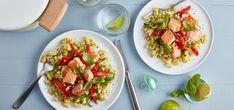 Kjøp Laks med makaroni og paprika og resten av ukeshandelen med ett klikk! Bruk squash som base i en saus,et smart triks for å få i seg mer grønnsaker!