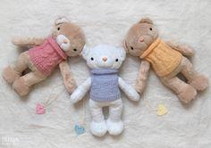 Wholesale Soft Toys - Set of 3 Stuffed Teddy Bears - Stuffed Animal - Cute Soft Toy - Plush Faux Fur Toy - Discount