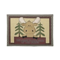 Welcome Moose cartoon place West Place mat