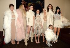 Pin for Later: The 13 Highlights From Kanye West's Yeezy Show You Just Can't Miss And Coordinated With Her Entire Family Find out which other stars went to the Yeezy show.