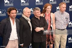 Actors Louis-Do de Lencquesaing, Vincent Nemeth, director Aleksandr Sokurov, actress Johanna Korthals Altes and actor Benjamin Utzerath attend a photocall for 'Francofonia' during the 72nd Venice Film Festival at Palazzo del Casino on September 4, 2015 in Venice, Italy.