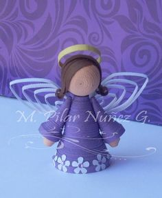 Do you want to make this angel?    Follow these steps!              What you need:     Quilling strips: The width of the strips used is...