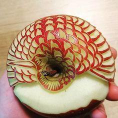 Food Carving Apfel Kunst Schnitzen Essen Gerichte