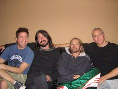 Dave Grohl and Taylor Hawkins of Foo Fighters with Dr. Drew