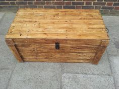 Rustic Clamshell Storage Trunk   Seat   Coffee Table   Handmade From  Reclaimed Wood £140 #rustic #storage #handmade | Family Room Redo |  Pinterest | Shops, ...
