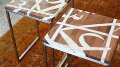 arabic calligraphy in-lay love--I think we can do this together on old tv trays. (I have a two set on hand, just waiting for you to help me paint them Muhammad) :-*
