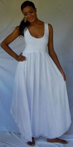 U107 WHITE/DRESS-MAXI-LAYER MADE 2 ORDER 2X 3X 4X | lotustraders - Clothing on ArtFire