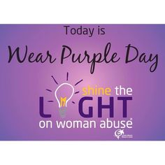 Nov 15th is Wear Purple day! The @endwomanabuse #ShinetheLight #campaign raises awareness of mens violence against women by turning cities regions and counties purple for the month of #November; to stand in solidarity with abused women and support them in understanding that any shame and/or blame they may feel does not belong to them.  Check out our campaign on Instagram and Facebook @freeyourselfglobal or at FreeYourselfGlobal.com to see how we are working to end #DomesticViolence against…