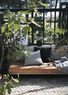 Summer news from Danish House Doctor 2017 <Danish interior design and design House Doctor, Outdoor Rooms, Outdoor Living, Outdoor Decor, Outdoor Daybed, Leather Daybed, Kokoon Design, Greenhouse Interiors, Turbulence Deco