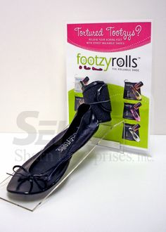 Footzy Rolls Custom Display for women's flats shoes Acrylic  | Point of Purchase | Point of Sale | POSM | POP | POS | Custom Display | Store Fixture | Retail Design | Visual Merchandising