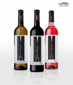 ADEGA MAYOR - MONTE MAYOR by Marcos Cruz, via Behance for our #wine loving #packaging peeps PD