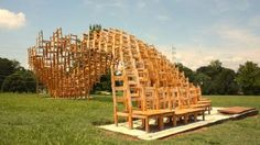 Architizer Blog » A Pavilion Made Entirely Out Of Stacked Chairs - love this!