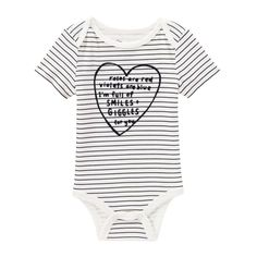 Baby Girls' Embellished Text Bodysuit