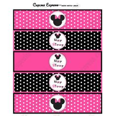 free minnie mouse printables | MINNIE MOUSE PRINTABLE WATER BOTTLE LABELS PINK