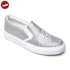 La Modeuse, Damen Sneaker , silber - silber - Größe: 39 EU (*Partner-Link)