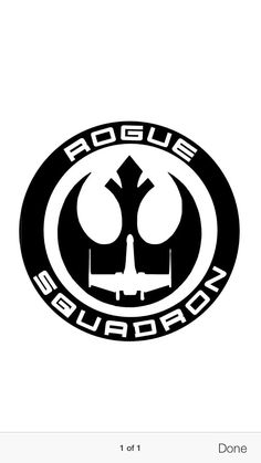 A personal favorite from my Etsy shop https://www.etsy.com/listing/242618988/rogue-squadron-sticker-vinyl-decals-star