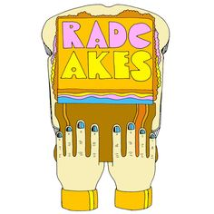"""Spread the Word"" RadCakes shirt design  retro vintage style artwork peter max john alcorn yellow submarine screen print squeegee design art print making bread peanut butter spread"