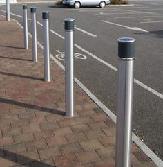 http://www.hartecast.co.uk/category/bollards/ - Image of Hartecast's new HC2011 stainless steel bollards. Available in contrasting colours for the visually impaired, our bollards are ideal for any public area.