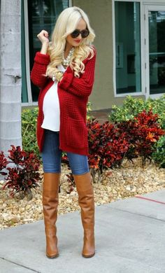 Winter fashion for pregnant women