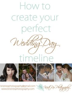 How to create your perfect wedding day timeline - Kristi Rex Photography