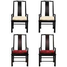 A Pair of Interior Crafts Asian Arm chairs, 2 available   From a unique collection of antique and modern armchairs at https://www.1stdibs.com/furniture/seating/armchairs/