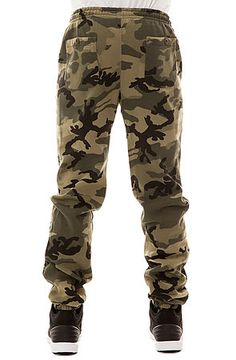 The Quality Dissent Fleece Pants in Field Camo by Obey