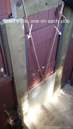 Pulleys to close the chicken coop door