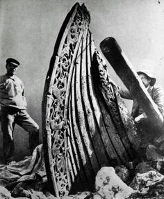 The Oseberg Viking ship under excavation circa 1890. The remains are currently on display in Oslo Norway, at The Viking Ship Museum. Follow…