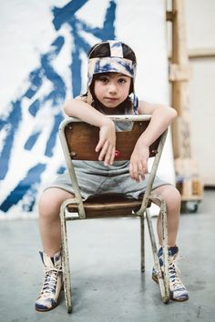 Inspired by the artist Martin Creed's recent London exhibition the new Chapter 2 kids handmade footwear for spring 2015 features brushstrokes on leather