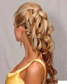 Long Blonde Homecoming Hairstyle