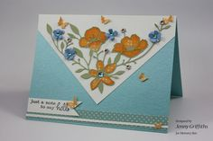by Jenny Griffiths, fellow DTM at Memory Box. Using the wildflower corner die. beautiful layout and colors