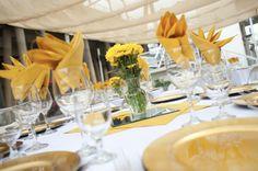 Simple table setting at the Delta King! #SeenAtTheDeltaKing #DeltaKingWeddingIdeas