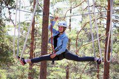 Osaatko tehdä spagaatin? 👌 @Vuokatin Seikkailupuisto  #vuokatinseikkailupuisto #vuokkati #seikkailupuisto #Finland #adventurepark