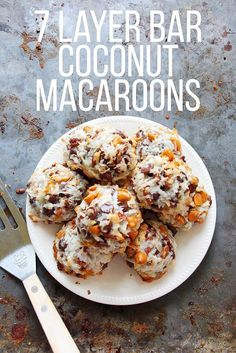 seven layer coconut macaroons