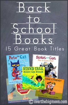 Books to help kids with their back to school jitters