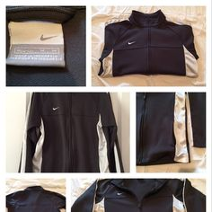 NIKE JACKET Good condition. No trades. A pulling of the fabric on the back as seen in picture. Make your best offer! Nike Jackets & Coats