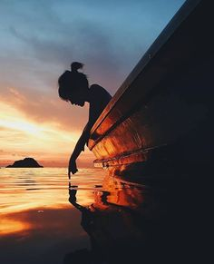 "trulyglimpses: ""~ Gone were the ripples ….moving in continuous circles …..driven by her languid touch. They were replaced by the soft reflections of sunset….a watery canvas painted in rusted shadow and black pools of fading light. She looked at her..."