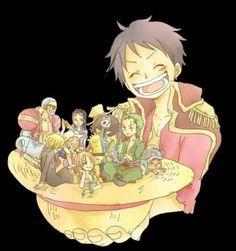 One Piece ~ The Straw Hat Pirates -- Luffy, Nami, Zoro, Usopp, Chopper, Sanji, Robin, Franky, and Brook
