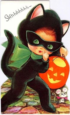 90 Unique Creative Vintage Halloween Cards Number 80 Very Unique Vintage Halloween Cards 77 Vintage Halloween Cards, Retro Halloween, Halloween Prints, Halloween Signs, Halloween Pictures, Halloween Cat, Vintage Holiday, Holidays Halloween, Halloween Ideas