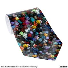 RPG Multi-sided Dice Neckties