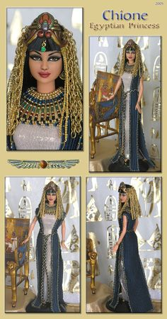 chione egyptian princess barbie repaint