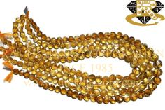 Citrine Faceted Coin (Quality CD) Shape: Coin Faceted Length: 36 cm Weight Approx: 17 to 19 Grms. Size Approx: 6.5 to 10 mm Price $7.20 Each Strand