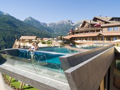 South Tyrol Italy - Huberos Hotel - The Infinity Pool Has A Glass Bottom & Hangs 40 Ft Above The Ground - Panoramic views of Dolomites Have A Great Vacation, Great Vacations, Hotels And Resorts, Best Hotels, Luxury Resorts, Hilton Hotels, Florida Hotels, Top Hotels, Viajes